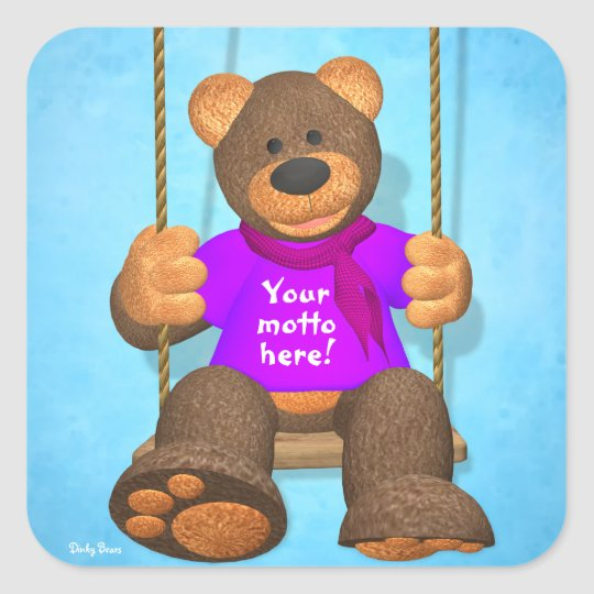 Dinky Bears: Your happy bear Square Sticker
