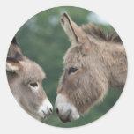 Dinky donkey round stickers