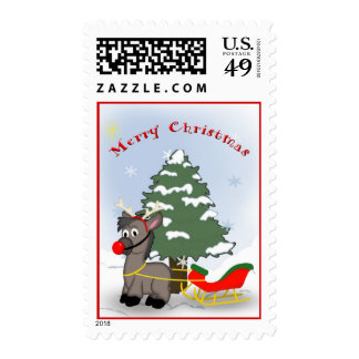 Dinky the Donkey helps Santa - Christmas Stamps