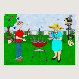 Dinner and Cocktails in the Garden - Card