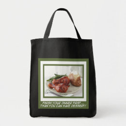 Dinner and Dessert Tote Bag