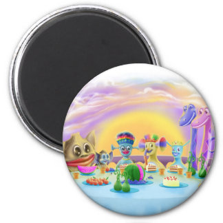 Dinner at Brimlest Palace 2 Inch Round Magnet