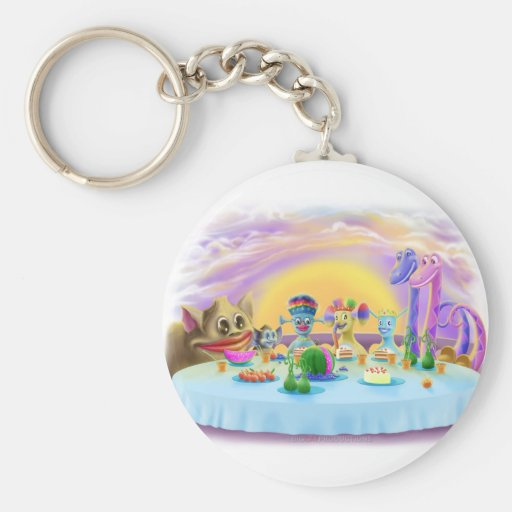 Dinner at Brimlest Palace Key Chains