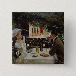Dinner at Les Ambassadeurs, c.1882 Pinback Button