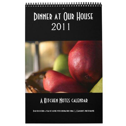 Dinner at Our House calendar