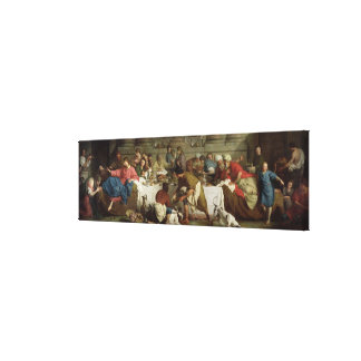 Dinner at the House of Simon, 1737 Canvas Print
