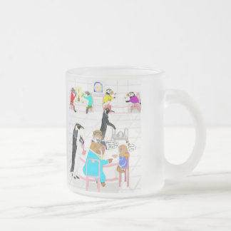 Dinner At The Igloo Swank 10 Oz Frosted Glass Coffee Mug