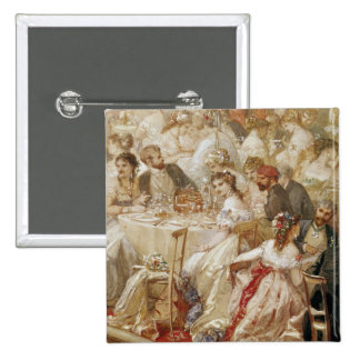 Dinner at the Tuileries, 1867 2 Inch Square Button