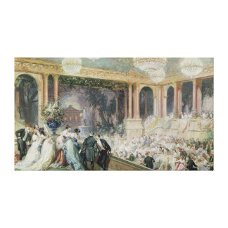 Dinner at the Tuileries, 1867 Canvas Print