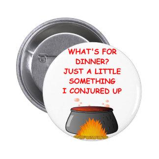 dinner pinback buttons
