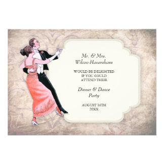 Dinner & Dance Party Vintage Invitation