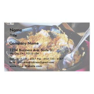 Dinner Food Double-Sided Standard Business Cards (Pack Of 100)