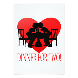 Dinner For Two 5x7 Paper Invitation Card