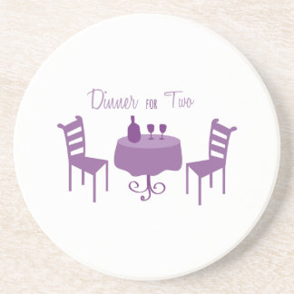 Dinner For Two Beverage Coaster