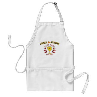 Dinner for Winners Adult Apron
