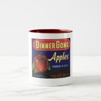 dinner gong apples mug