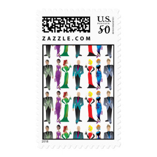 Dinner Guests Postage Stamps