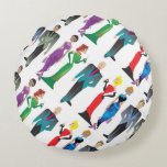 Dinner Guests Round Throw Pillow Round Pillow