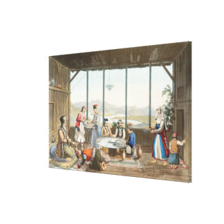 Dinner held at Delphi in honour of the painter by Canvas Print