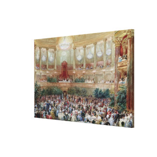 Dinner in the Salle des Spectacles at Canvas Print