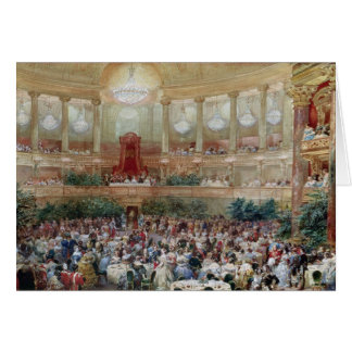 Dinner in the Salle des Spectacles at Greeting Card