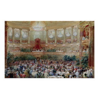 Dinner in the Salle des Spectacles at Poster