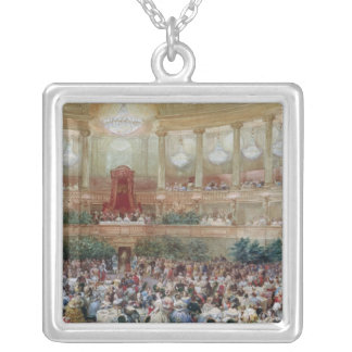 Dinner in the Salle des Spectacles at Silver Plated Necklace