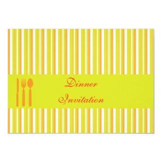 Dinner Invitation, customisable, personalised Card