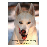 Dinner invitation with touch of humor