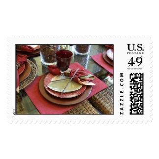 Dinner Invite Postage Stamp