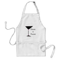 """"""" Dinner is Poured"""" Martini Personalized Apron"""