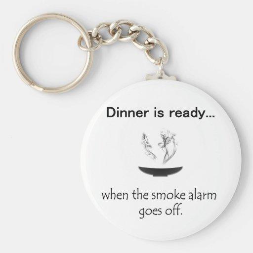 Dinner is ready keychain