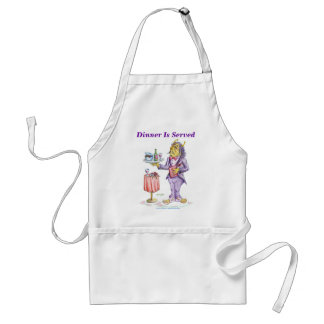 Dinner Is Served Adult Apron