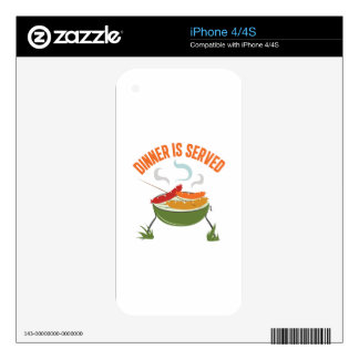 Dinner Is Served iPhone 4 Decal