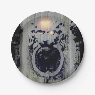 dinner knocker/paper plate