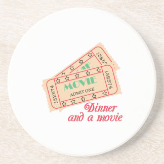 Dinner & Movie Beverage Coaster