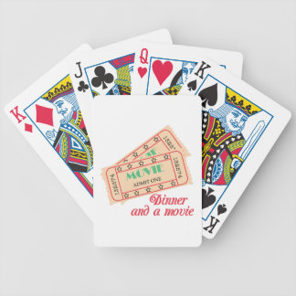 Dinner & Movie Bicycle Playing Cards