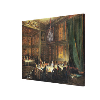 Dinner of the Prince of Conti in the Temple Canvas Print