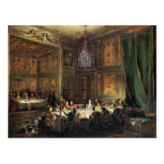 Dinner of the Prince of Conti in the Temple Postcard
