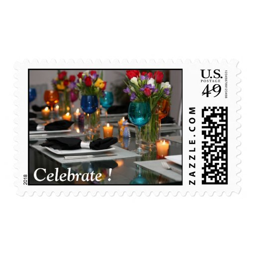 Dinner Party, Celebrate ! Postage Stamp