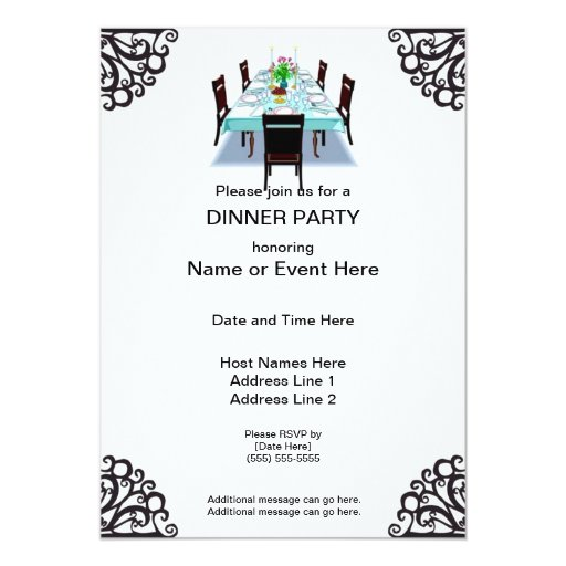 Dinner Party Custom Invitations