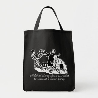 Dinner Party Head on a Platter Tote Bag