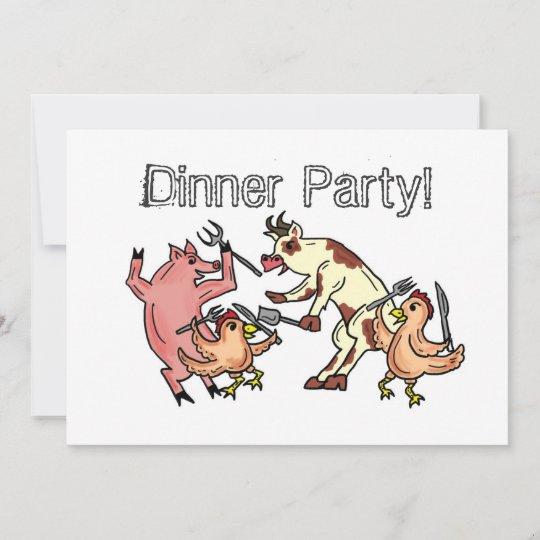 Dinner Party humor invitation
