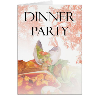 Dinner Party Invitation with oysters