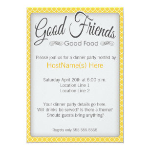 Formal Dinner Party Invitations Zazzle