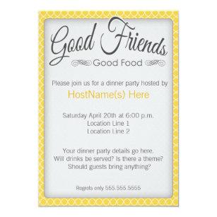 dinner party invitations zazzle