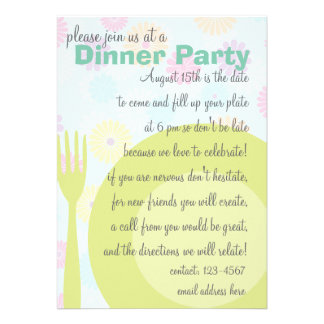 Dinner Party Pattern Announcements