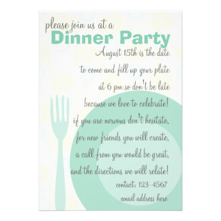 Dinner Party Pattern Custom Announcement