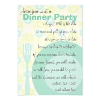 Dinner Party Pattern Custom Invites