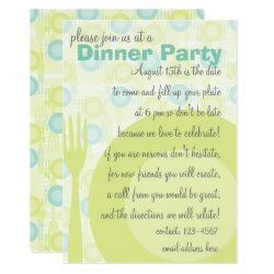 Dinner Party Pattern Invitation